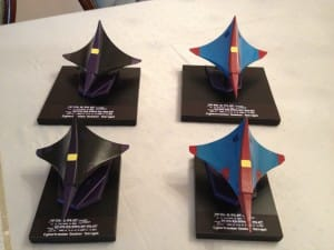 All four Tetra Jets. Two Large, two small, ready for display.