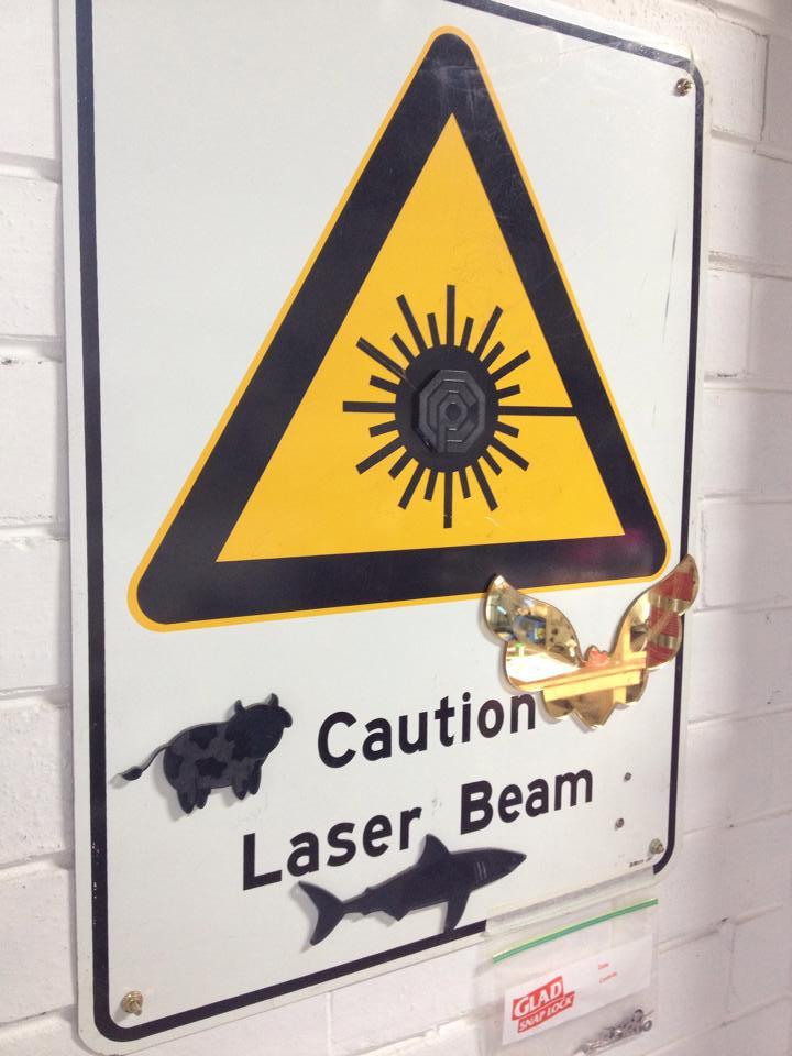 OCP hidden on Laser sign