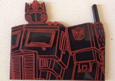 Optimus Prime – Laser Etch