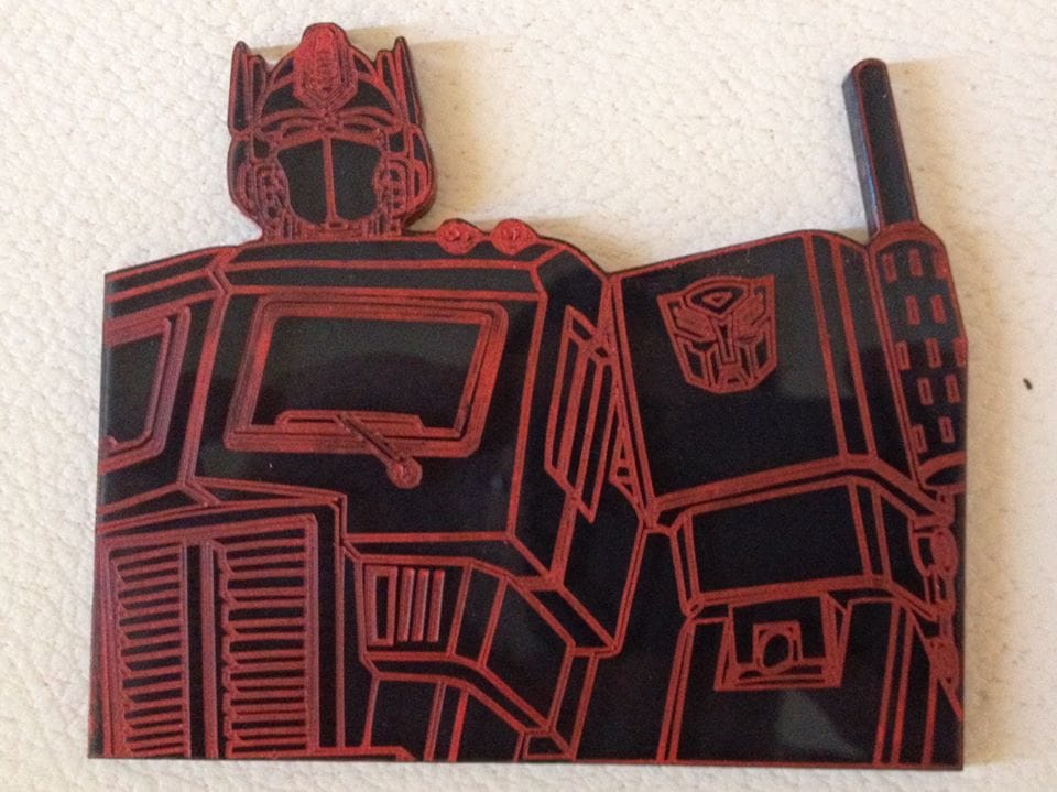Optimus Prime – Laser Etch