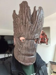 Dave is Groot. Amazing foam made mask!