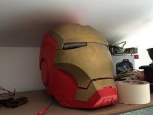 Iron Man Mark 3. Must be Tony's spare helmet.
