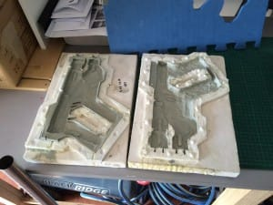 Old school moulding and casting. Rubber moulds make me smile.