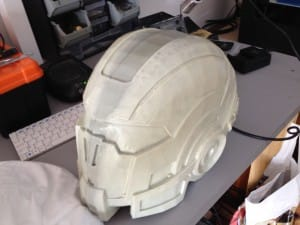 Raw Mass Effect helmet, Slush moulded. Very nice.