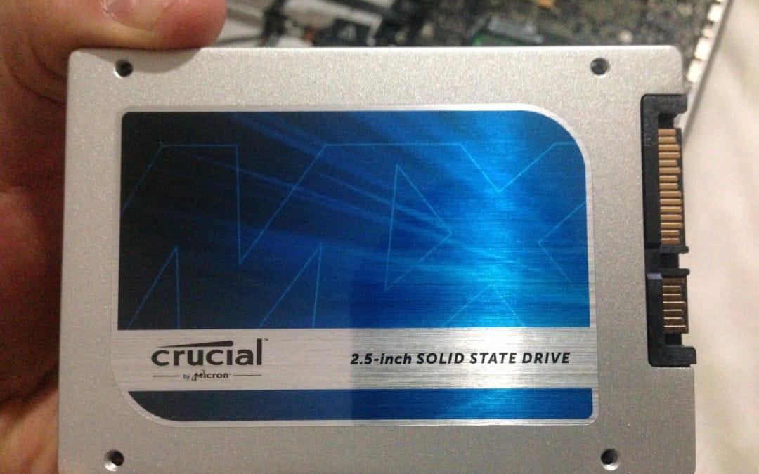 Laptop upgrade – SSD