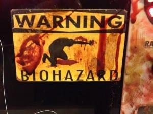 Biohazard close up