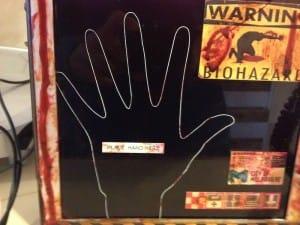 Laser etched hand scanner detail