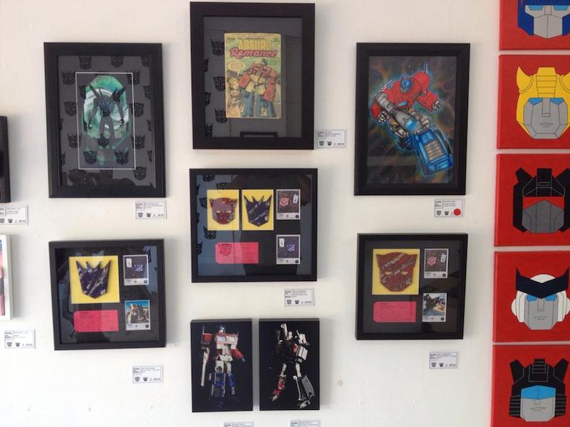 Three pieces hanging at Artboy Gallary