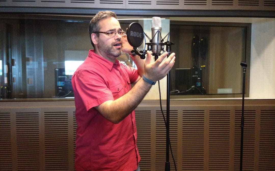 Recording voiceover for Little Melbourne Girls