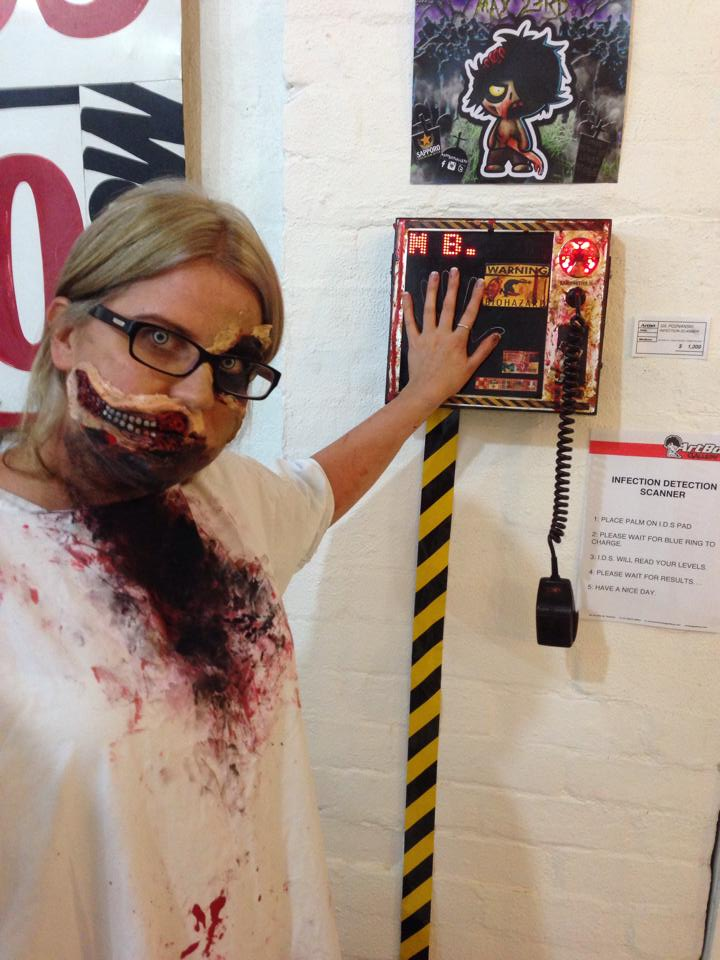 Zombie tries to get in by tricking the system. Yeah right!