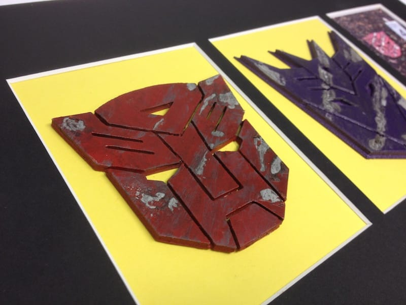 Close up of smaller autobot badge. Love the finish on this piece