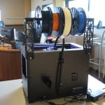 Check out the reverse angle. The printer can now sit flush against a wall.