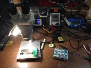 The soldering workstation at the CCHS