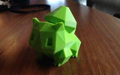 3D printed Bulbasaur engagement ring box