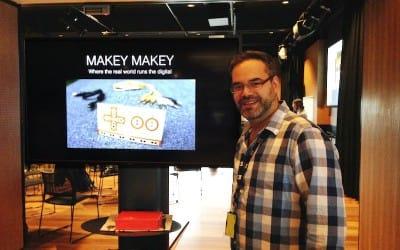 Makey Makey class at Stephen Heppell Masterclass