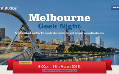 Gil will be talking at Melbourne Geek Night