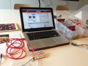 Makey Makey kit and Snake, KTS's personal computer