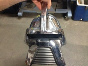 Front on helmet design by Andrew Probert