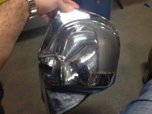 Side view of helmet design