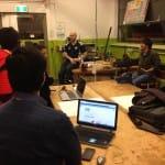In the engineering workshop, Melbourne University