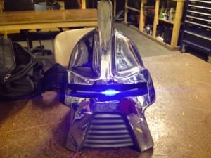 Blue eyed Cylon, based on the work of Ralph McQuarrie