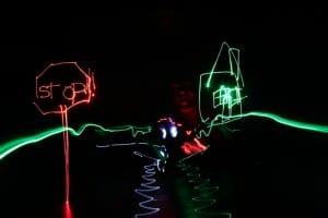 Neon street scene