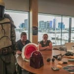 Robe and Blaster showing off their 3D costuming and prop creations