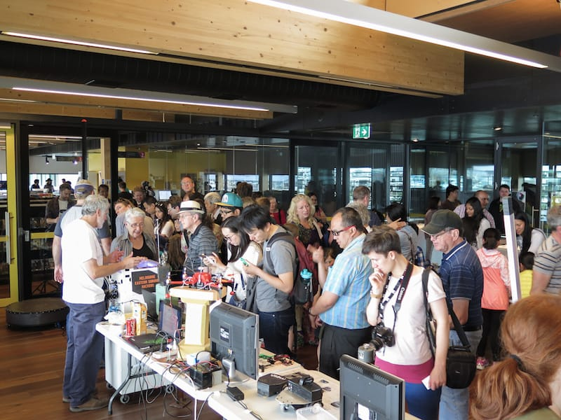 Crowd at Mini Make Day - Library at The Dock, Melbourne Australia
