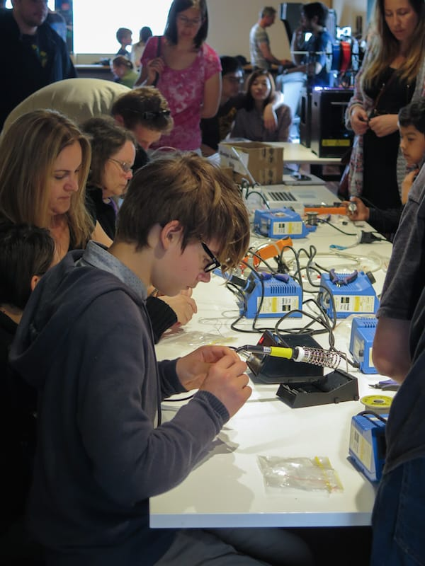 Learning to solder - Mini Make Day