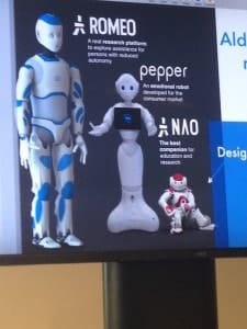 NAO and his family, Pepper and Romeo