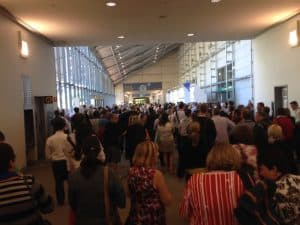 The hallway filled with delegets attending Edutech 2016