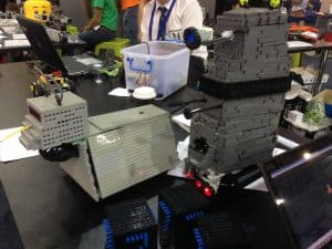 Dalek and K-9 in the kids robot challange