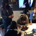 All ages learning to solder