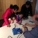 Everyone learning to build basic electronic circuits