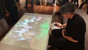 Floor projected video games