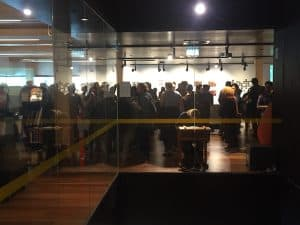 Opening night at Library at The Dock
